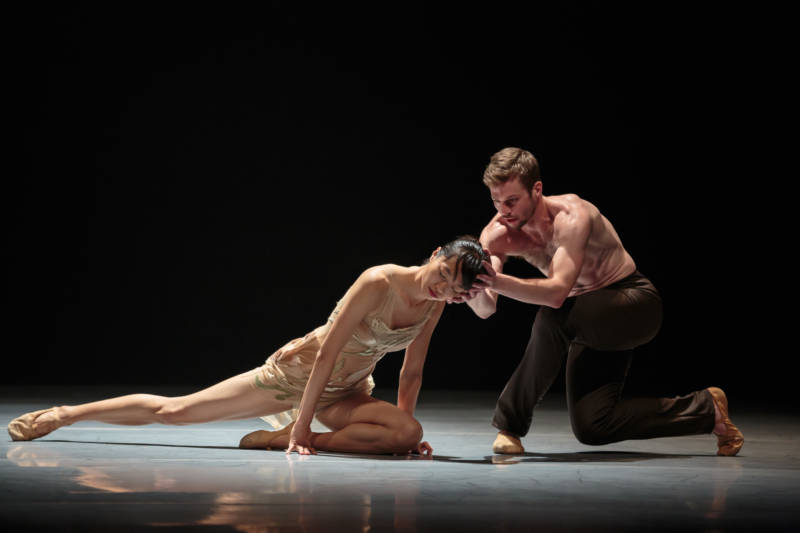 Yujin Kim and Robb Beresford at a dress rehearsal for Alonzo King Lines Ballet 'Figures of Speech'