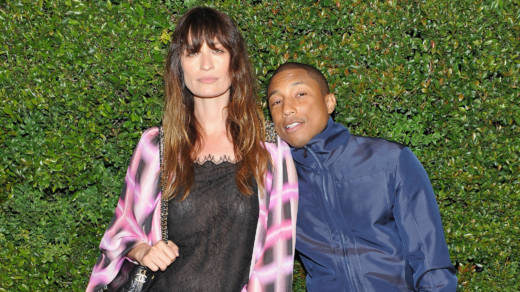 Caroline De Maigret and Pharrell Williams attend a dinner held in their honor by Chanel in April, 2017. Williams became the first male to front a campaign for the luxury fashion brand's handbags.