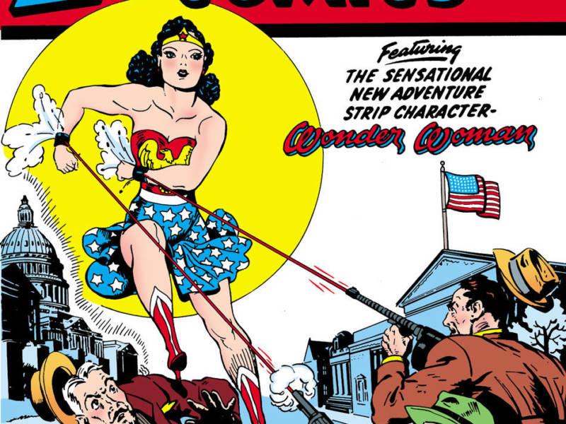 Wonder Woman on the cover of Sensation Comics