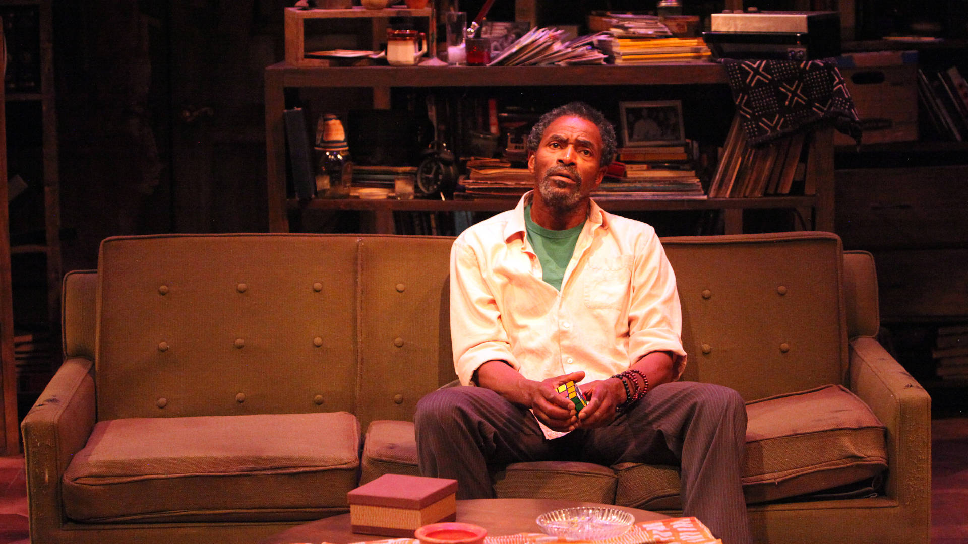 Gil Scott Heron (Carl Lumbly) thinks about the whole scope of his life in 'Grandeur' by Han Ong. Photo: Jennifer Riley