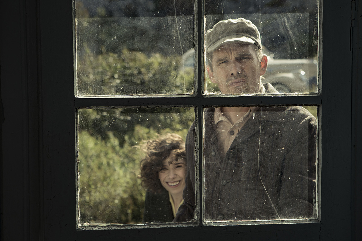 Sally Hawkins as Maud Lewis and Ethan Hawke as Everett Lewis in 'Maudie.'