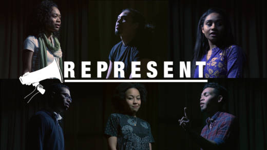 Cast members of 'Blasian Narratives,' a documentary-theater production on being black and Asian.