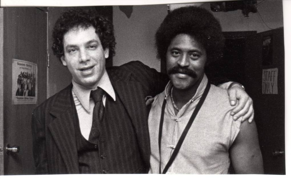 Todd Barkan and Charles McPherson in 1980, backstage at Keystone Korner.