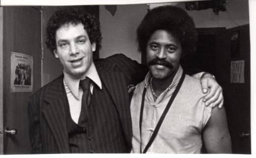 Todd Barkan and Charles McPherson in 1980, backstage at Keystone Korner.