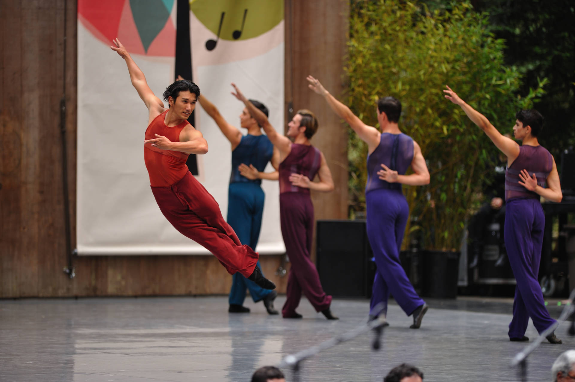 Hansuke Yamamoto and other dancers of San Francisco Ballet in Christopher Wheeldon's Rush© at the 2016 Stern Grove Festival  (Photo: Erik Tomasson)