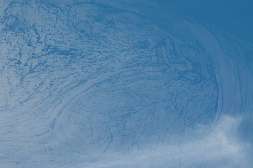 Currents and waves off Baja coast in Mexico as seen from NASA's space station by astronaut Tim Kopra.