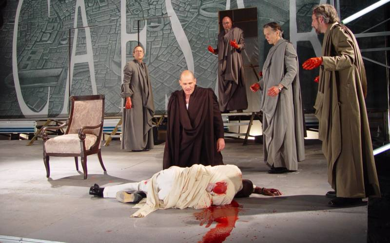 A 2003 production of 'Julius Ceasar' at Cal Shakes, directed by Jonathan Moscone, featured L. Peter Callender as a Ceasar that recalled the director's father, the late George Moscone.
