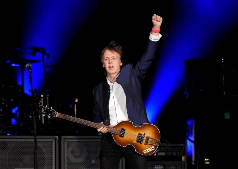 Paul McCartney performs at Desert Trip in Indio, Calif., in 2016.