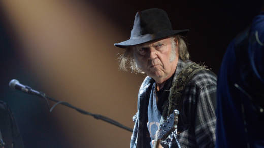 Neil Young performs onstage at the 4th Annual Light Up The Blues in 2016.