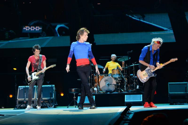The Rolling Stones perform at Desert Trip in Indio, Calif., in 2016.