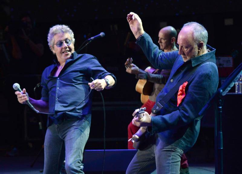 Roger Daltrey and Pete Townshend of the Who perform at Desert Trip in Indio, Calif., in 2016.