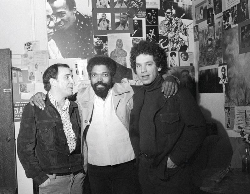 Joao Gilberto, Billy Hart and Todd Barkan in 1976 at the Keystone Korner