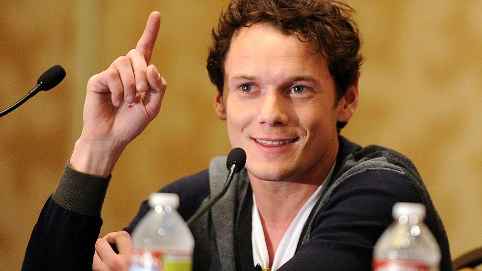 Anton Yelchin speaks at Comic-Con 2011 in San Diego, California.