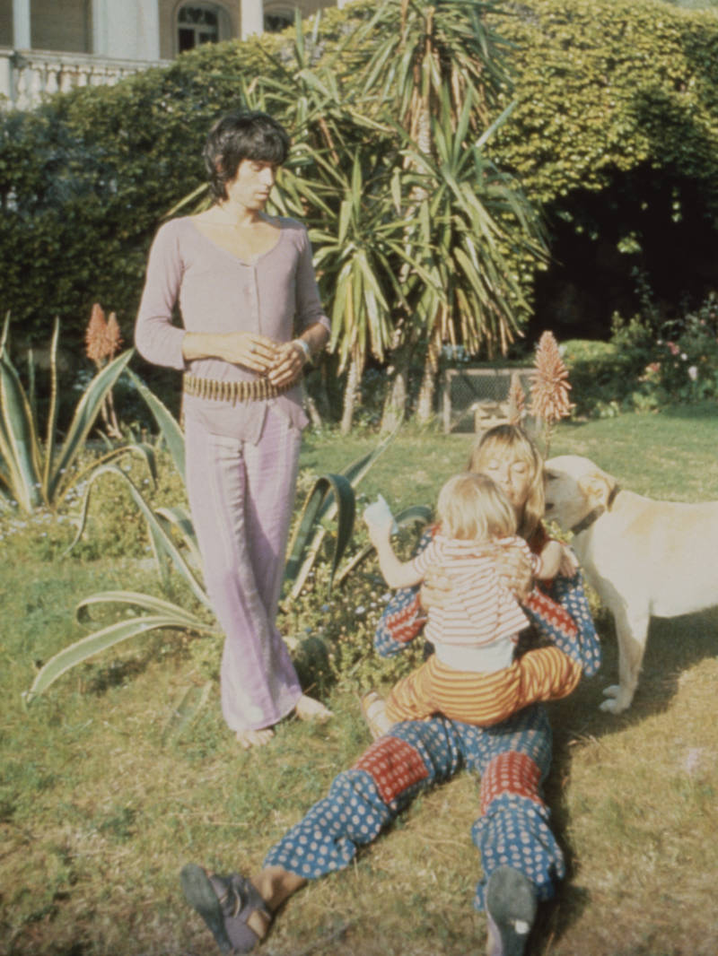 Keith Richards with Anita Pallenberg in 1970.