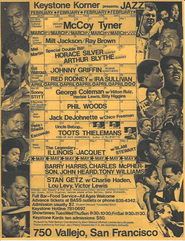 A Keystone Korner program from 1981.