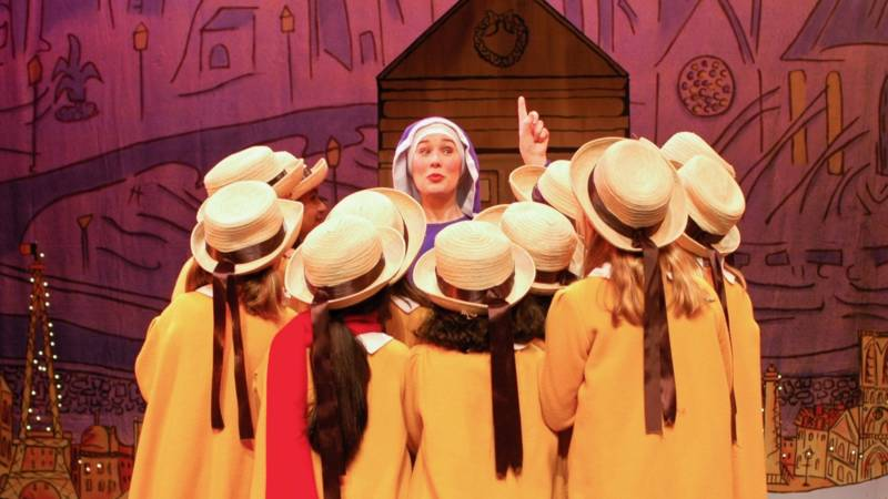 "A scene from ""Madeline's Christmas,"" performed by the California Theatre Center."