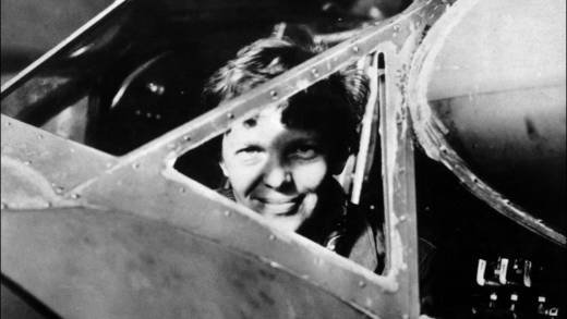 Undated picture taken in the 30' s of American female aviator Amelia Earhart looking trough the cockpit window of her plane. Amelia Earhart was the first woman to fly the Atlantic as a passenger, in 1928, and followed this by a solo flight in 1932. In 1935 she flew solo from Hawaii to Califofrnia. In 1937, with Fred Noonan, they set out to fly round the world, but their plane was lost over the Pacific.