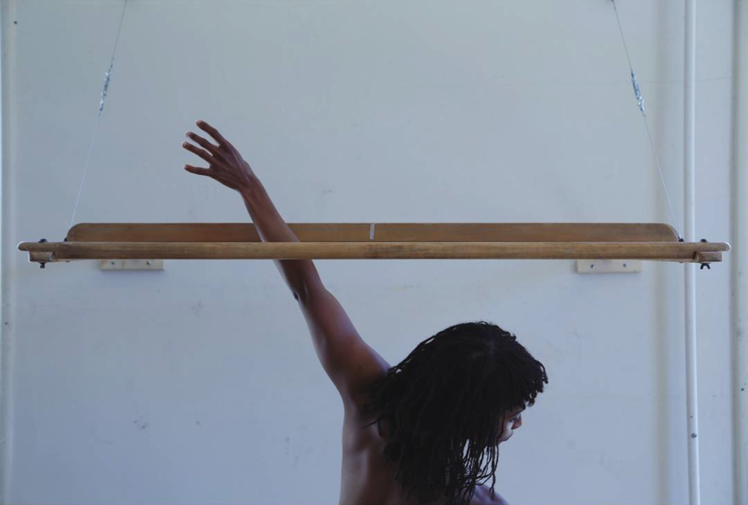 An image from Indira Allegra's 'Body Warp' series, produced while in residence at Headlands Center for the Arts.