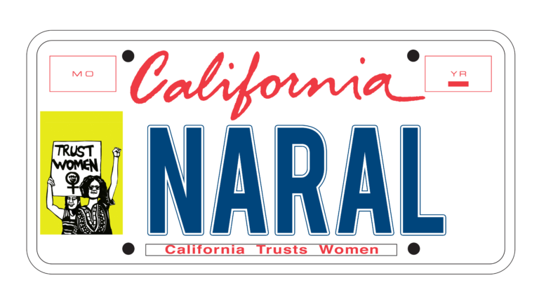 NARAL License Plate
