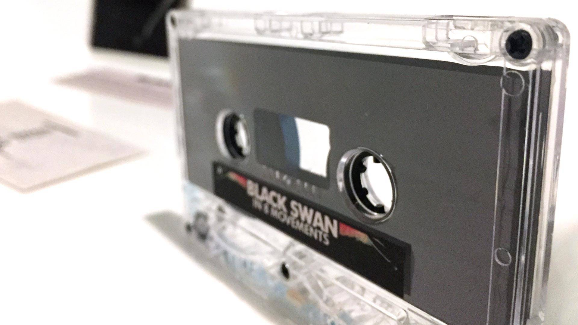 Though cassettes are a natural medium for experimental music, like Black Swan's 'In 8 Movements,' they're also cheap and accessible enough to appeal to all listeners. Gabe Meline/KQED