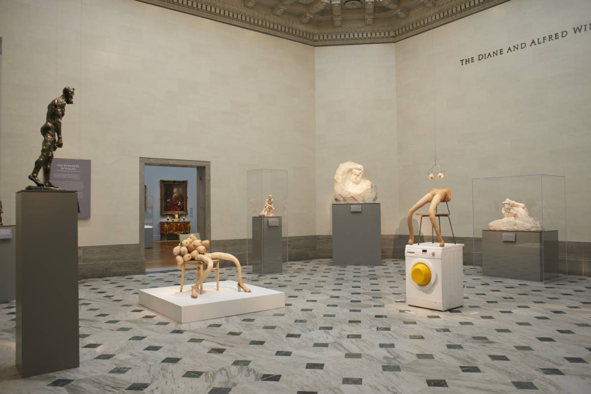 Installation view of 'Sarah Lucas: Good Muse' at the Legion of Honor.