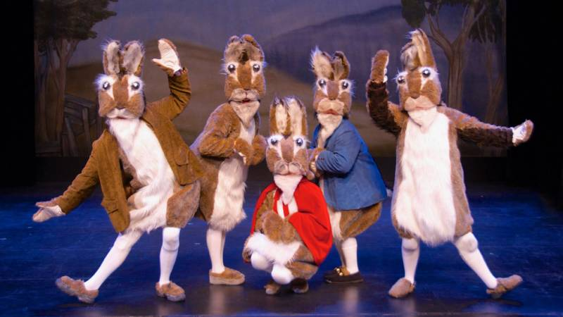 "From ""Peter Rabbit,"" performed by the California Theatre Center."