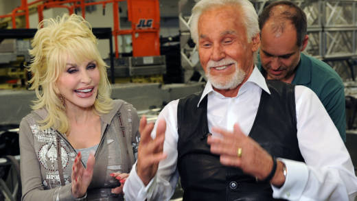 Dolly Parton and Honoree Kenny Rogers Backstage at the Kenny Rogers: The First 50 Years show at the MGM Grand at Foxwoods on April 10, 2010 in Ledyard Center, Connecticut.
