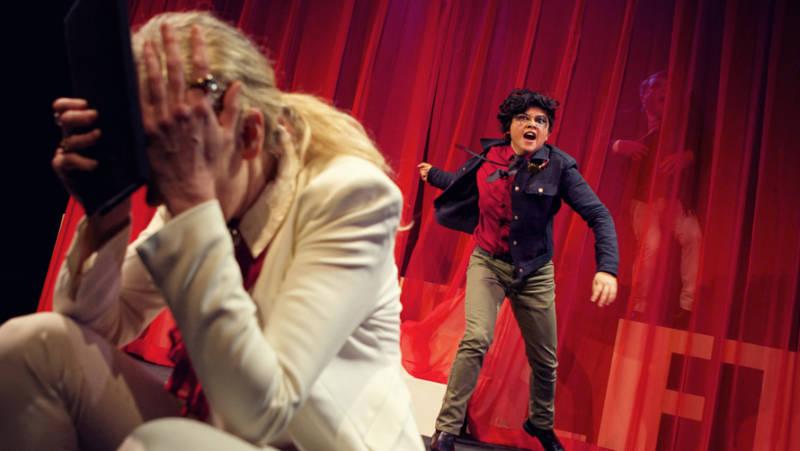 El Beh as Hamlet in Shotgun Players 'roulette' version of Shakespeare work.