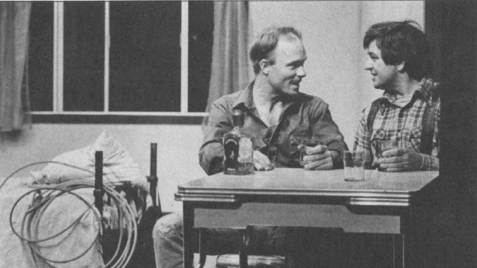Ed Harris and Dennis Ludlow in the original production of 'Fool for Love' at the Magic Theatre.