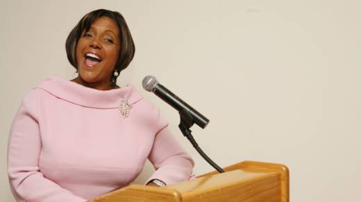 President and CEO of 'Ebony' Linda Johnson Rice speaks at a breakfast for Harriette Cole and Ebony Magazine hosted by The Metropolitan Museum of Art on September 5, 2007 in New York City.
