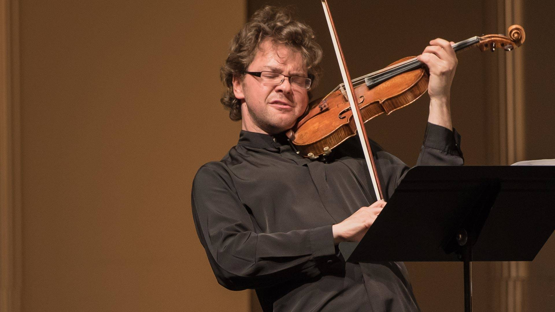 Alexander Sitkovetsky performs at 2016's Music@Menlo festival. Despite close proximity to Facebook and other tech giants, the chamber music festival's audience still skews older. Carlin Ma Photography