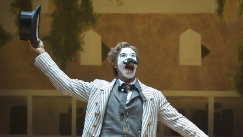 The villain M'Closky (Lance Gardner) is all villain in 'An Octoroon' by Branden Jacobs-Jenkins.