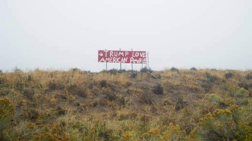 Richard Misrach, 'Trump Loves American People,' North of Reno, Nevada, 2016.