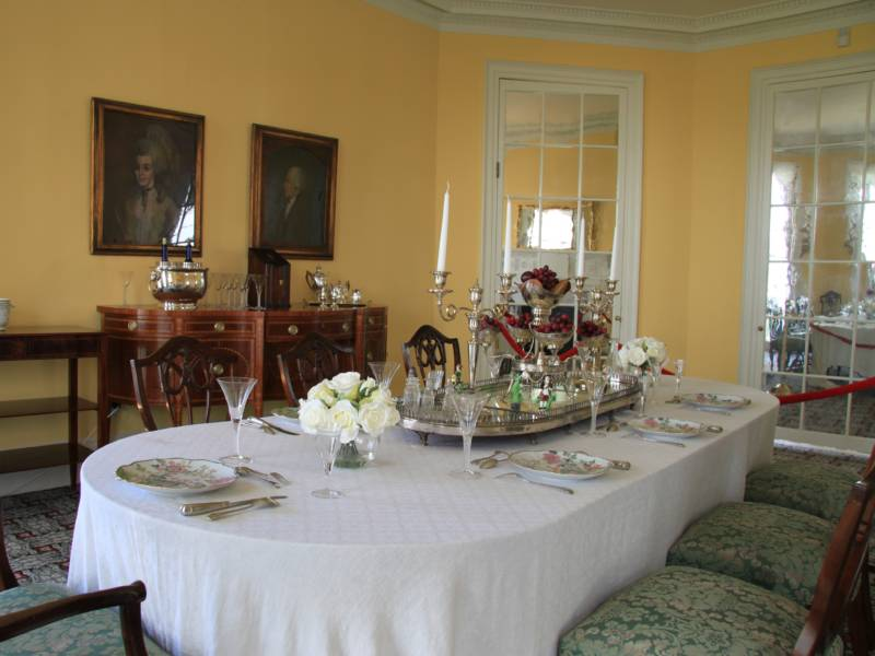 The dining room at the Hamilton Grange National Memorial in New York City. From a historical perspective, there are scant clues into Alexander Hamilton's diet