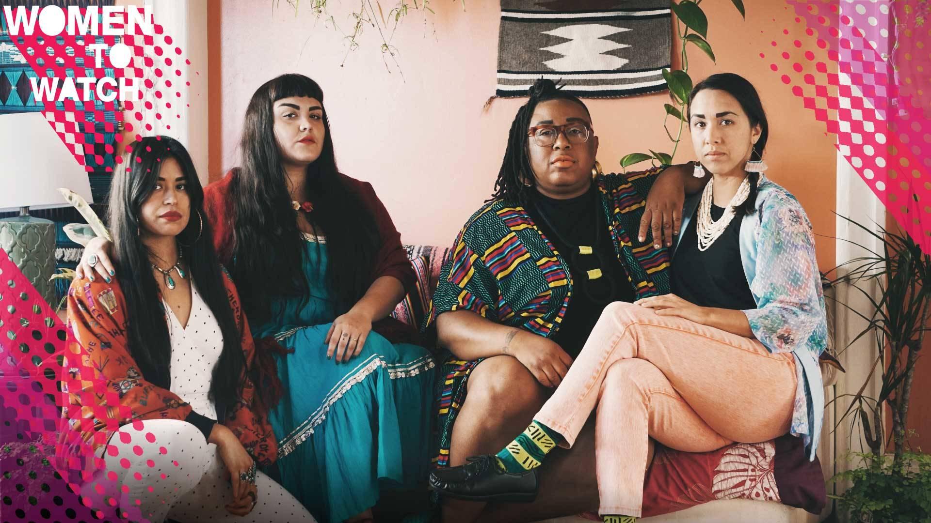Black Salt Collective (L-R): Grace Rosario Perkins, Sarah Biscarra-Dilley, Adee Roberson, Anna Luisa Petrisko Photo by Texas Isaiah