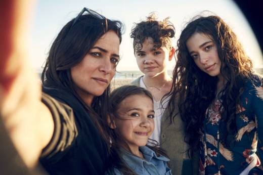 Pamela Adlon plays plays Sam, a single mom raising three daughters (from left, Olivia Edward, Hannah Alligood and Mikey Madison) in the FX comedy series 'Better Things.'