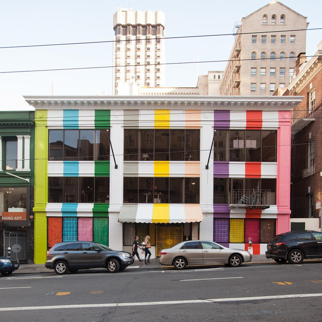 The exterior of Color Factory on San Francisco's Sutter Street.