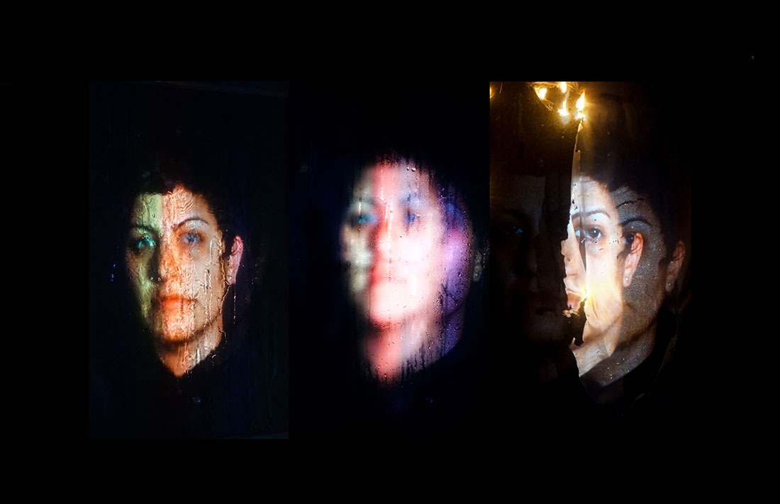 Azin Seraj's 'The Abyss,' a video installation on view at 'Night Light.'