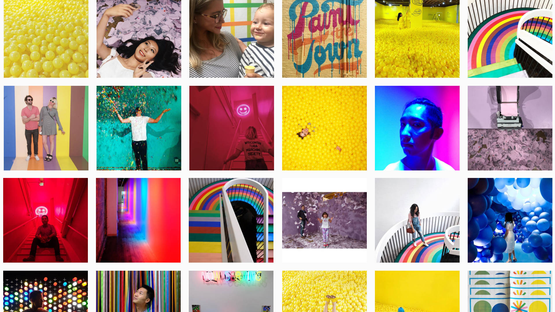 Public images tagged #colorfactoryco on Instagram. Courtesy of Instagram