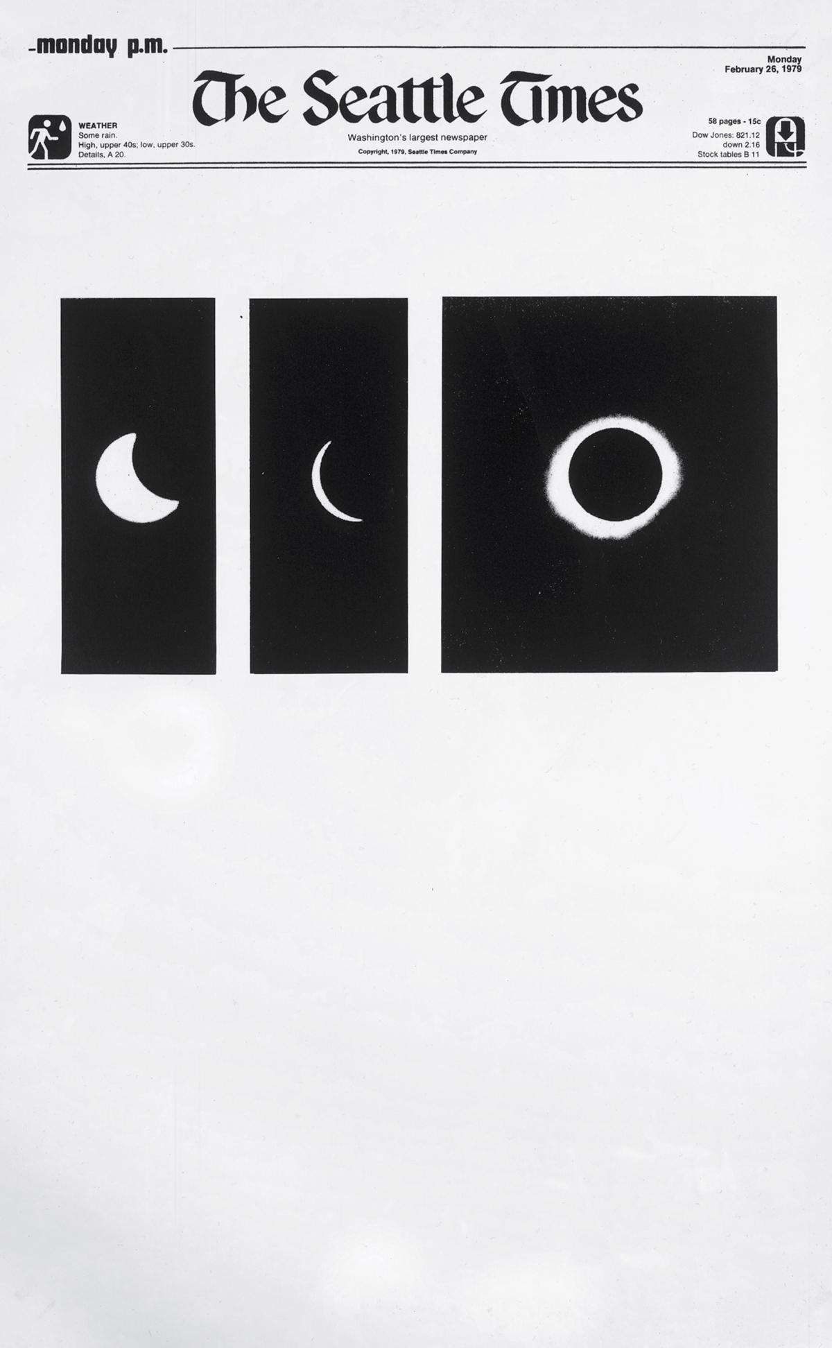 Sarah Charlesworth, 'Arc of Total Eclipse, February 26, 1979' (detail), 1979/2010.
