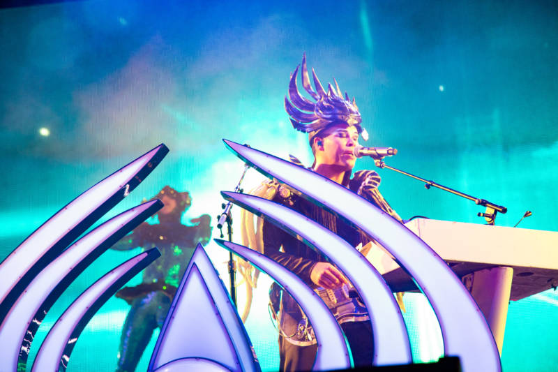 Empire Of The Sun performs at the Outside Lands music festival in San Francisco, Aug. 12, 2017.