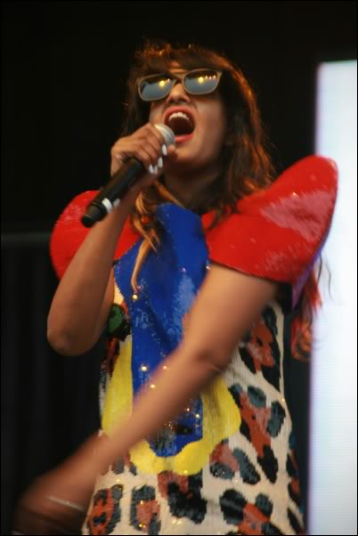 M.I.A. performing at Outside Lands in Golden Gate Park, 2009.