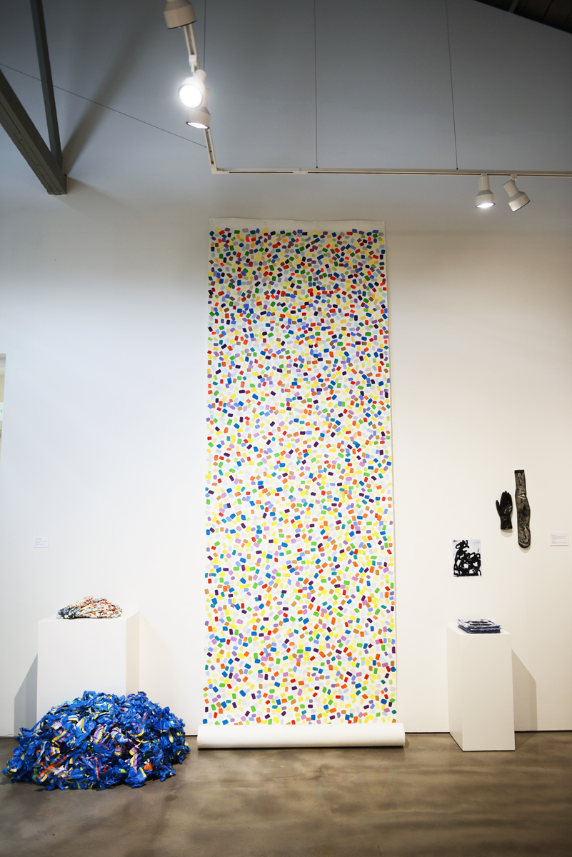 Installation view of 'Detritus.'