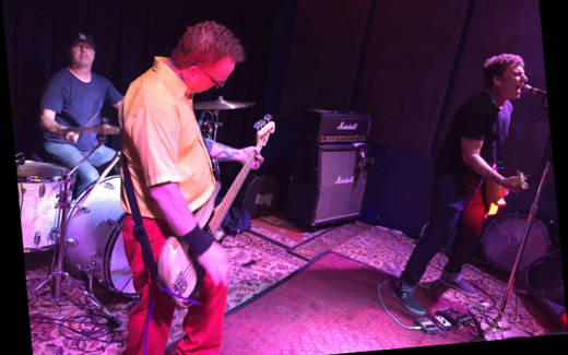 Jawbreaker plays their first show in 21 years, Aug. 3, 2017, at the Ivy Room in Albany, Calif.