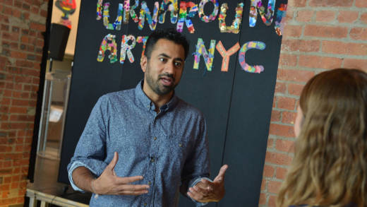 Kal Penn attends a press conference launching Turnarond Arts in New York City Schools at the Brooklyn Museum on September 22, 2015 in Brooklyn, New York.