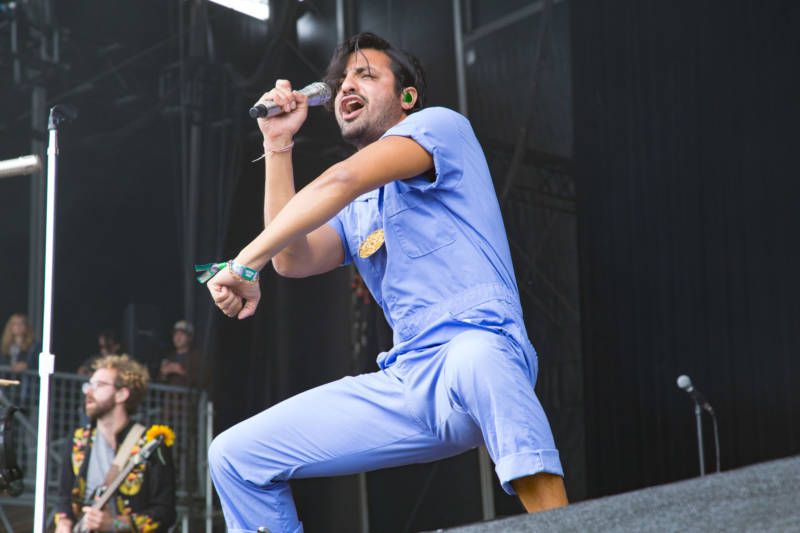 Young The Giant performs at the Outside Lands music festival in San Francisco, Aug. 13, 2017.