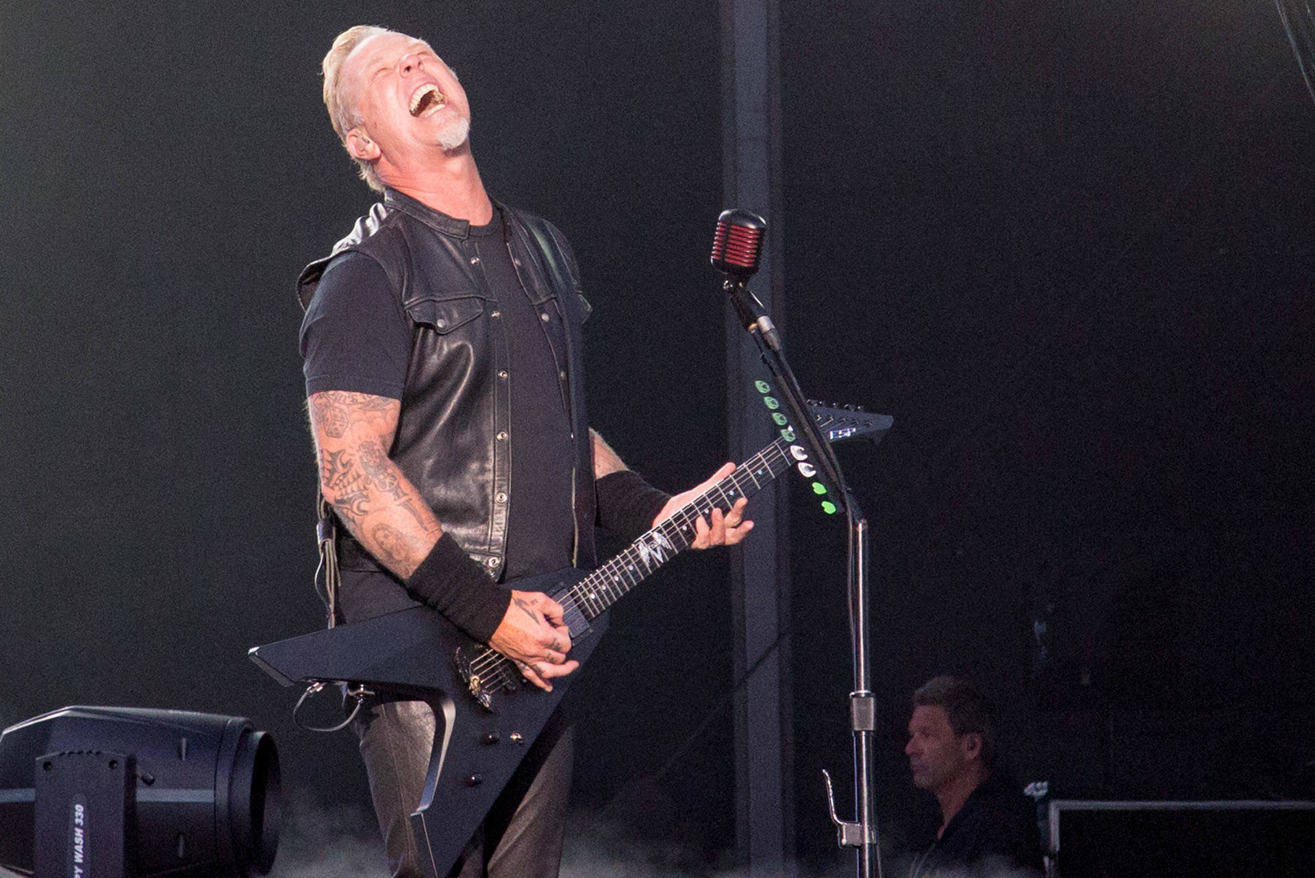 Metallica performs at the Outside Lands music festival in San Francisco, Aug. 12, 2017. Estefany Gonzalez