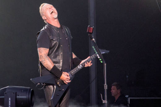 Metallica performs at the Outside Lands music festival in San Francisco, Aug. 12, 2017.