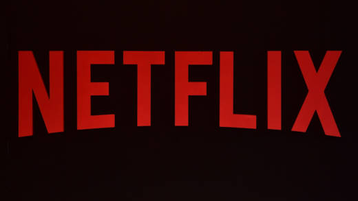 The Netflix logo is pictured during a Netflix event on March 1, 2017 in Berlin.