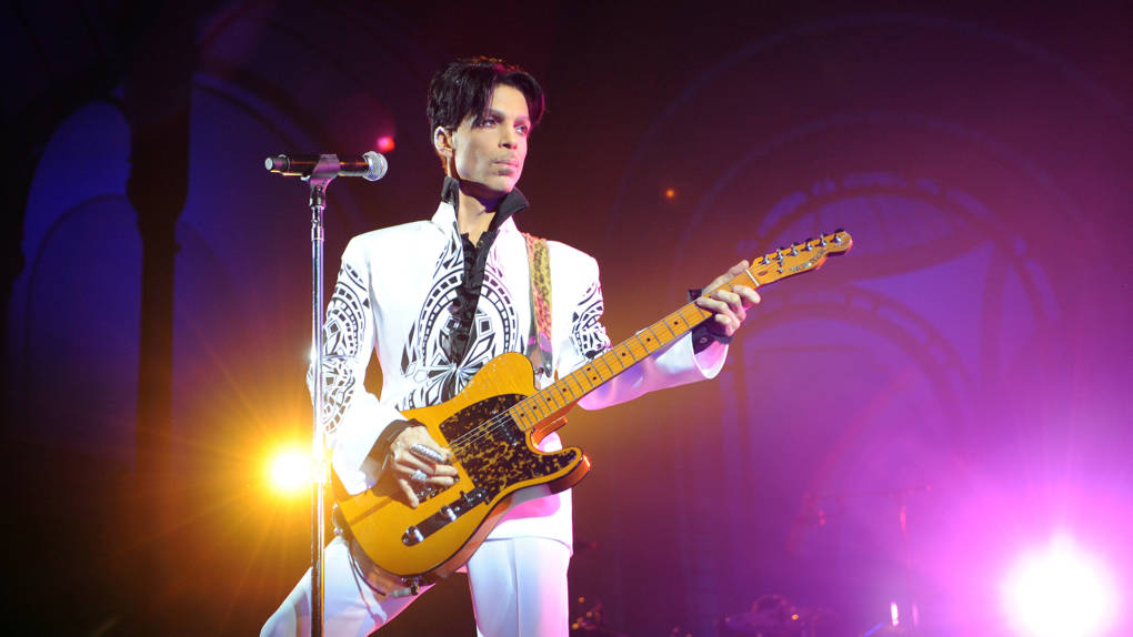 US singer Prince performs on October 11, 2009 at the Grand Palais in Paris.